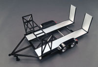 Car Trailer, tandem axle, removable ramps