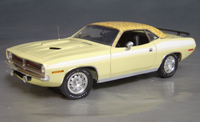 Click image to see more information about our 1970 Plymouth Cuda Yellow mod top/white 73/74!
