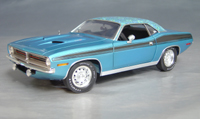 Click image to see more information about our 1970 Plymouth Cuda Blue mod top/black 73/74!