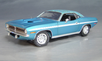 Click image to see more information about our 1970 Plymouth Cuda Blue mod top/white strobe!