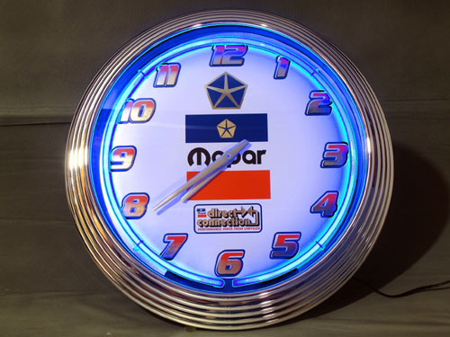 Quot Mopar Quot Quot Direct Connection Quot Royalblue Neon Clock Details