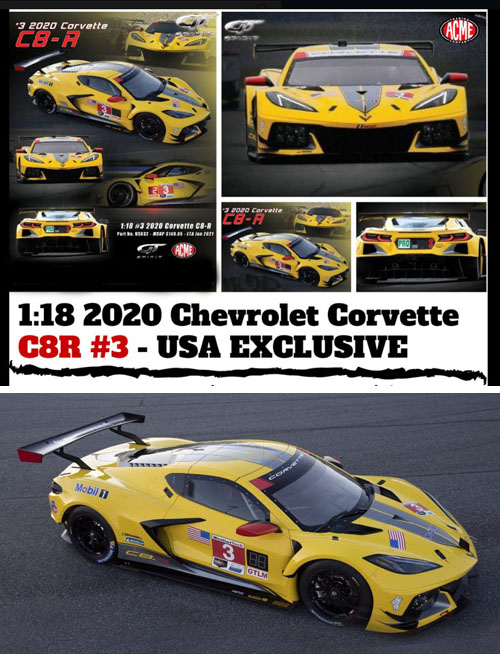 2020 Chevrolet Corvette Stingray C8 R Details Diecast Cars Diecast Model Cars Diecast Models Diecast Collectibles And Diecast Muscle Cars