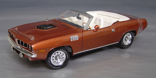 1971 hemi Cuda Convertible with/out billboard stripes. Only 12 produced!