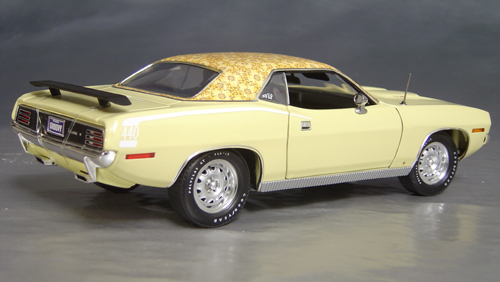 1970 Plymouth Cuda Yellow mod top/white hockey!