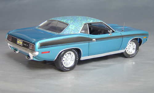 1970 Plymouth Cuda Blue mod top/black 73/74!