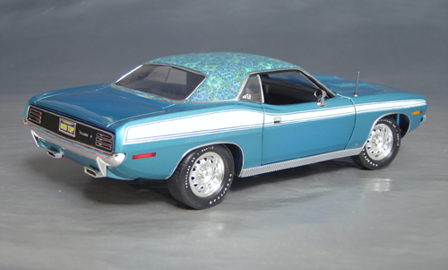 1970 Plymouth Cuda Blue mod top/white 73/74!