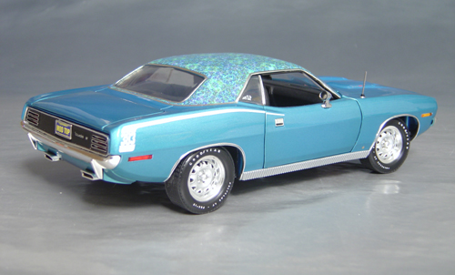 1970 Plymouth Cuda Blue mod top/white hockey!