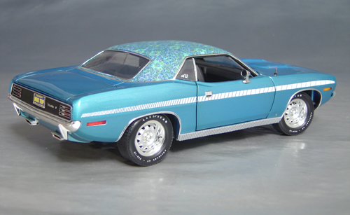 1970 Plymouth Cuda Blue mod top/white strobe!