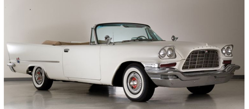 1957 Chrysler 300 C Convertible Cloud White with Tan Interior!