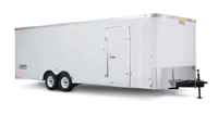 Enclosed Tandem Wheel Car Trailer