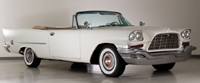 Click image to see more information about our 1957 Chrysler 300 C Convertible Cloud White with Tan Interior!