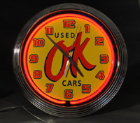 Chevrolet Sales, OK Used Cars Neon Clock