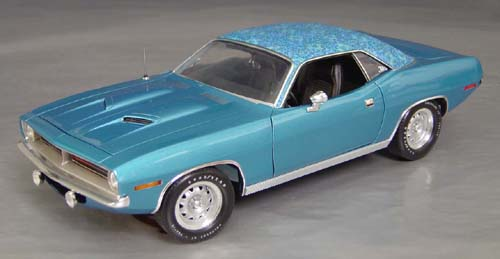 1970 Plymouth Cuda B5 Blue with blue Mod Top and Chase car