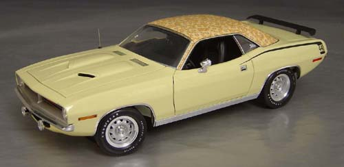 1970 Plymouth Cuda Sun Fire Yellow with Yellow Mod Top