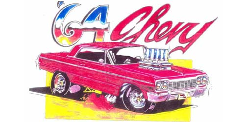 Chevy Artwork on a T-Shirt